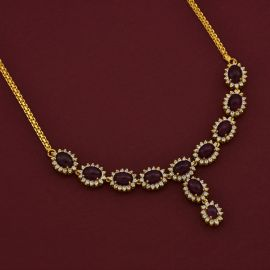RUBY CLUSTER NECKLACE