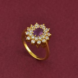Pink Sapphire Cluster Ring