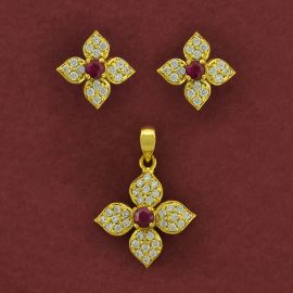 Pendant set - Ruby