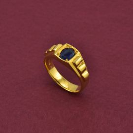 Gents Ring - Blue sapphire
