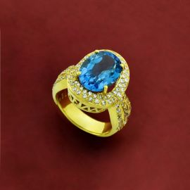 Ladies Ring - Blue Topaz