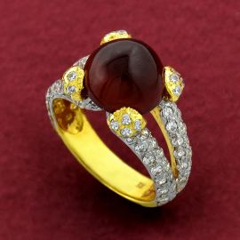 Ladies Ring - H/Garnet